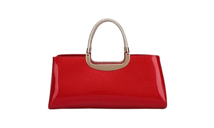 Women's Gold-Tone Hardware PU Evening Bag