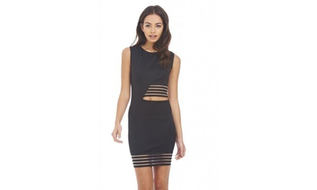 AX Paris Mesh Insert Cut Out Dress 36dfce52-bed3-42d7-8eb9-1183f4a8b802