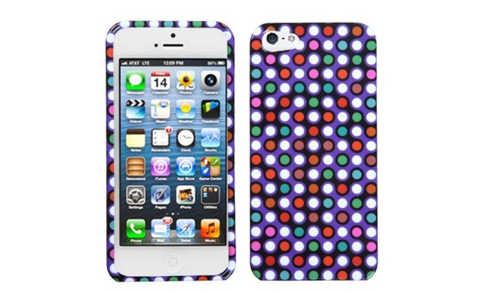 outlet store fddfc 7b6c8 Insten Grid Dots Phone Case for Apple iPhone 5 / 5s