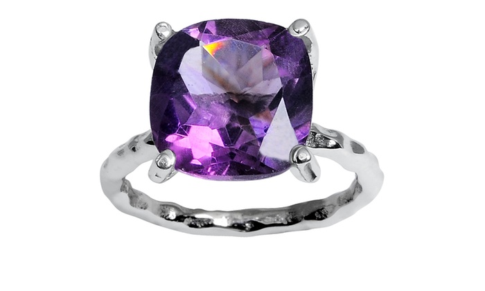 Orchid Jewelry 5 95 Ctw Amethyst Ring In Streling Silver