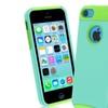 Insten Green/Light Blue Hard Hybrid Rugged Case Cover For iPhone 5C