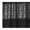 Mosaic Stone Black Bath Collection - Shower Curtain