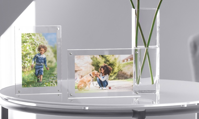 Lavish Home Acrylic Picture Frame With Magnetic Closure Groupon