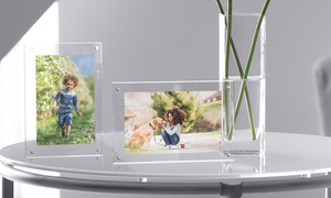 Lavish Home Acrylic Picture Frame with Magnetic Closure