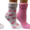 4 Pair Pack Lavender Capsule Infused Fluffy Socks