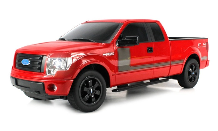 Licensed Ford F-150 FX4 Pickup Electric RC Truck Huge 110 Scale  sc 1 st  Groupon & Licensed Ford F-150 FX4 Pickup Electric RC Truck Huge 1:10 Scale ... markmcfarlin.com