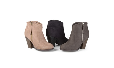Journee Collection Womens High Heel Faux Suede Ankle Boots 05a3b4f6-963f-4b99-be42-42d3bc5f02e3