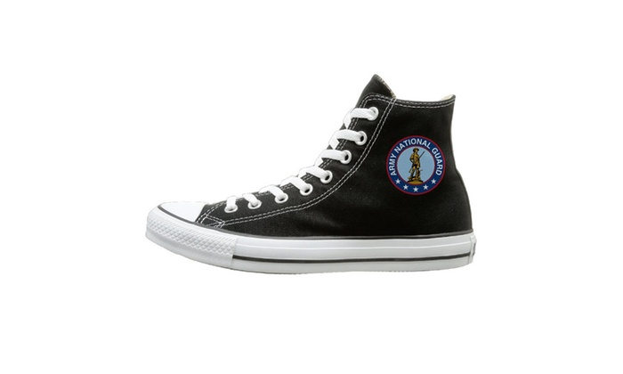 Seal Of The US Army National Guard Unisex High Top Canvas Shoes