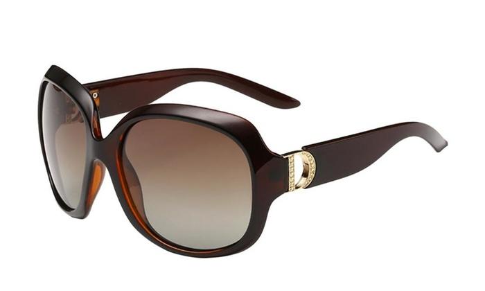 Mstop Women's Fashion Oversized Polarized Driving Traving Sunglasses