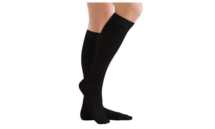 2-Pack 10-15mmHG Black Energy Compression Socks