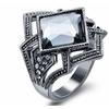 Gun Color Geometric Crystal Rhinestone Women's Ring