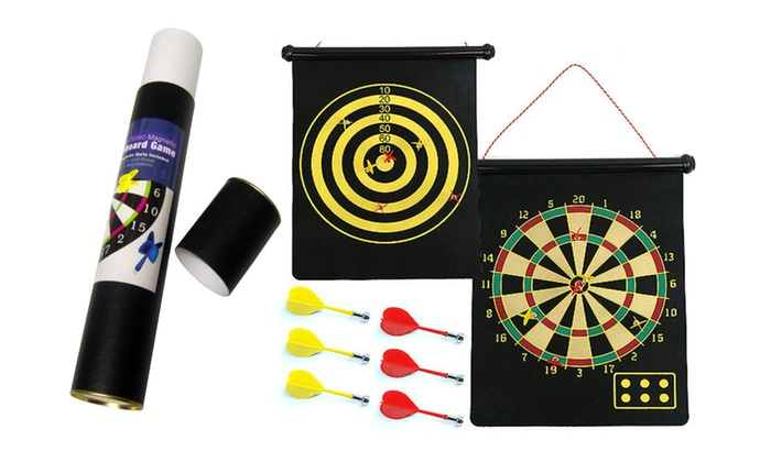 Buy It Now : Double Sided Hanging Magnetic Dart Board Game