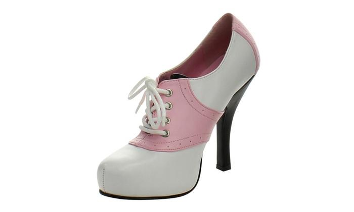 FUNTASMA SADDLE-48 Women  Hidden Platform Two Tone Lace Up Saddle Shoe