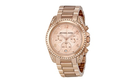Michael kors blair chronograph watch mk5263 groupon for Michaels craft store watches