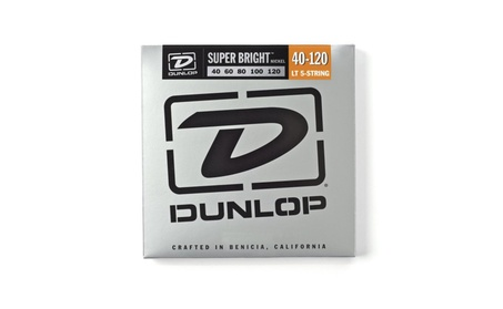 Dunlop - Super Bright Nickel Plated Steel Bass 5 String Set, .40.120 e37c36aa-9834-477e-8977-eacb6167cfbe