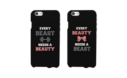 Beauty and Beast Need Each Other Couples Matching Cell Phone Cases for iphone 4, iphone 5, iphone 5C, iphone 6, iphone 6 plus, Galaxy S3, Galaxy S4, Galaxy S5, LG G3, HTC M8 Phonecase