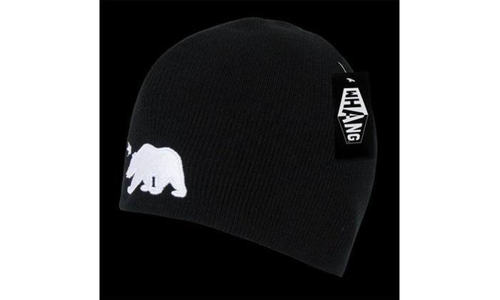 a84faee3e4a79 Decky W18-BLK California Bear Short Beanie Black See Image . . Label  original.jpg
