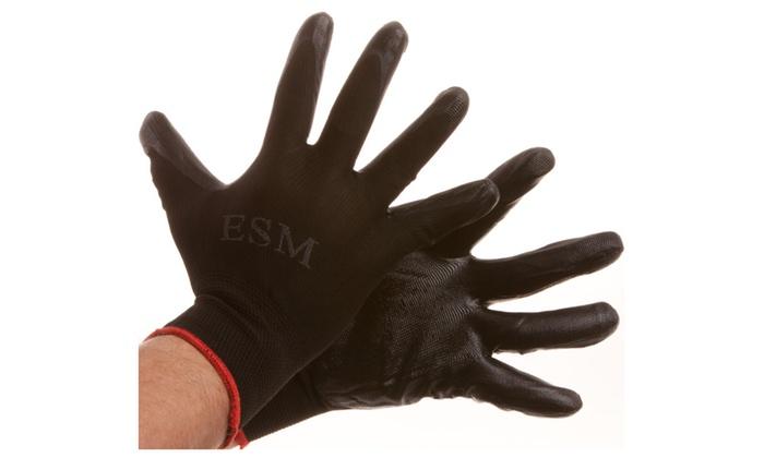 Nitrile Black Crinkle Gloves
