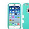 Insten Hybrid Rubber Cover Case For Iphone 6s 6 Teal Green White