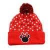 Red Black Disney Minnie Mouse Polka Dot Pom Cold Weather Beanie Hat