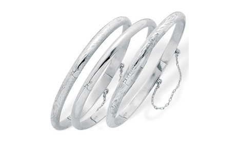 3-Piece Bangle Bracelet Set in Sterling Silver b0114136-4298-44c6-9cfc-088abef58078