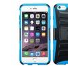 Insten iPhone 6 Plus Case, Black/Blue Hybrid Stand Case iPhone 6 Plus
