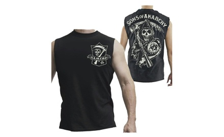 Sons Of Anarchy SAMCRO Shield Muscle Sleeveless Men's T-Shirt Black Size Small
