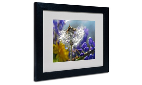 Steve Wall 'Wet Weed Beauty' Matted Framed Art 76f87449-81c9-41fc-b6cc-8c86a2374f7b