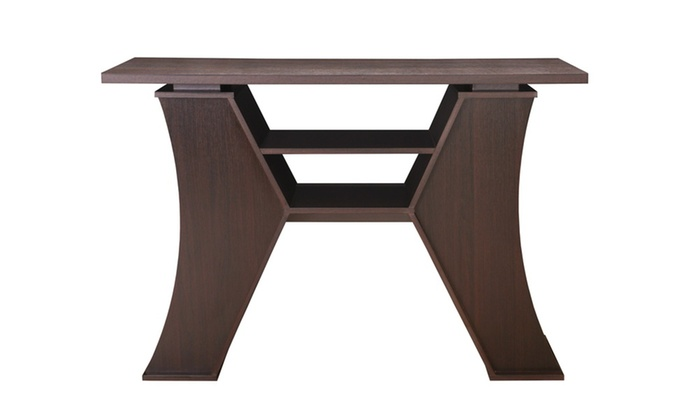 Foyer Table Jcpenney : Garza espresso modern design entryway table groupon