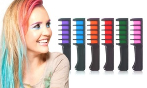 Funky Temporary Hair Color Comb Chalk (6- or 12-Pack)