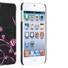 Insten Snap-on Hard Case For iPod touch 5 Black/Flower Style 12