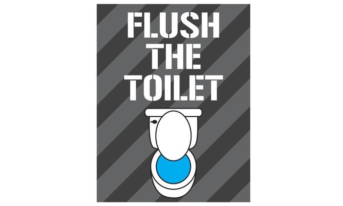 Bathroom Art Print Bathroom Rules Decor Wash Floss