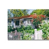 David Lloyd Glover Rose Cottage Canvas Print