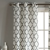 Geometric Linen Window Curtains 96 Inch and 112 Inch