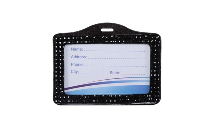 Insten Black Horizontal Business Card Holder 001
