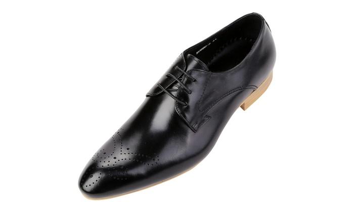 Shefetch Men's Wedding Leather Shoes