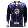 Men's Stylish Cool Street Style Zip up Long Sleeve Casual Jacket