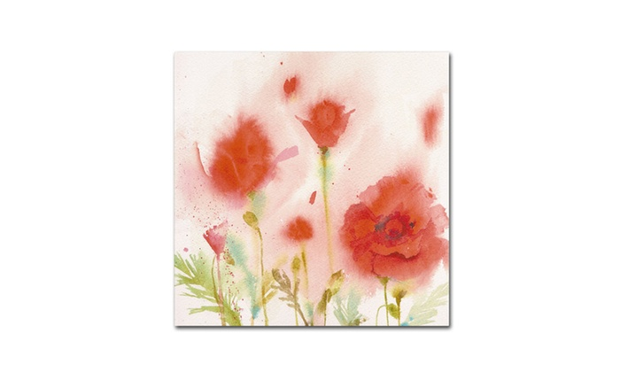sheila golden red poppy memory canvas print groupon 12191 | c700x420