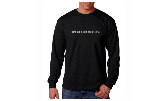 Men's Long Sleeve T-shirt - LYRICS TO THE MARINES HYMN