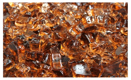 Copper Fireglass 10-pound Fire Glass with Fireplace Glass and Fire Pit Glass
