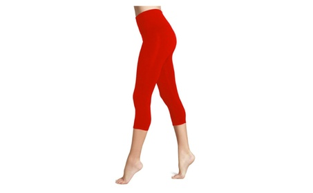 Women's Seamless Capri Length Cropped Leggings Yoga Pants Activewear 5476f187-948c-4df3-a732-22bb37acea3e
