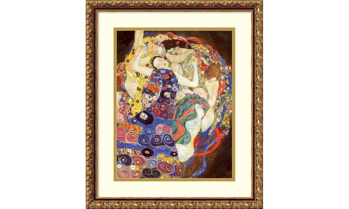 Gustav Klimt The Virgins Sleeping Women Framed Art