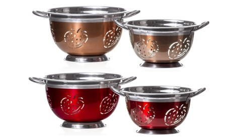 Strawberry Stainless Steel Colander Deep Kitchen Strainer Red / Copper 3ce5dcc4-83d0-4182-866e-8cb456e97285