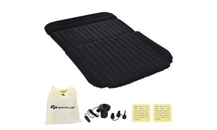 Inflatable SUV Air Backseat Mattress Flocking Travel Pad w/Pump Camping Outdoor