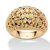 DISC- Diamond-Cut 14k Yellow Gold Nano Diamond Resin Filled Dome Ring