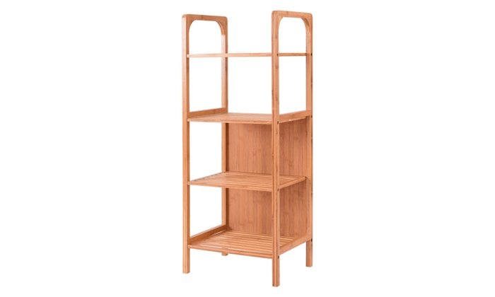 4 Tier Bamboo Bathroom Shelf Storage Unit Tower Rack Plants Stand ...  sc 1 st  Groupon & Up To 63% Off on 4 Tier Bamboo Bathroom Shelf ... | Groupon Goods