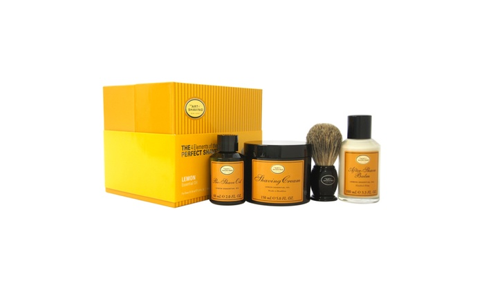 theart of shaving theperfect shavekit lemon men 4pckit groupon. Black Bedroom Furniture Sets. Home Design Ideas