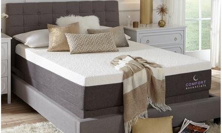 """Comfort Essentials Premium 14"""" Custom Comfort NRGel Memory Foam Mattress"""