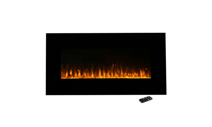 Incredible Northwest Led Fire And Ice Electric Fireplace With Remote 36 Inch Home Interior And Landscaping Sapresignezvosmurscom