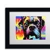 Dean Russo 'Choose Adoption Boxer' Matted Black Framed Art